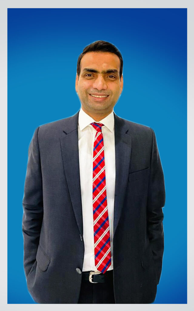 ali with blue background